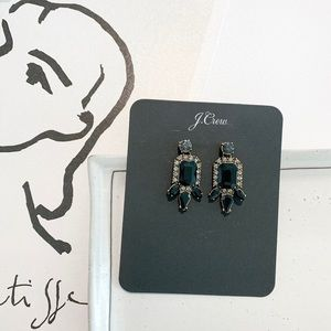 🌻🌻J. Crew Black Stone Stud Earrings